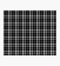 Binary Dance Tartan  Photographic Print