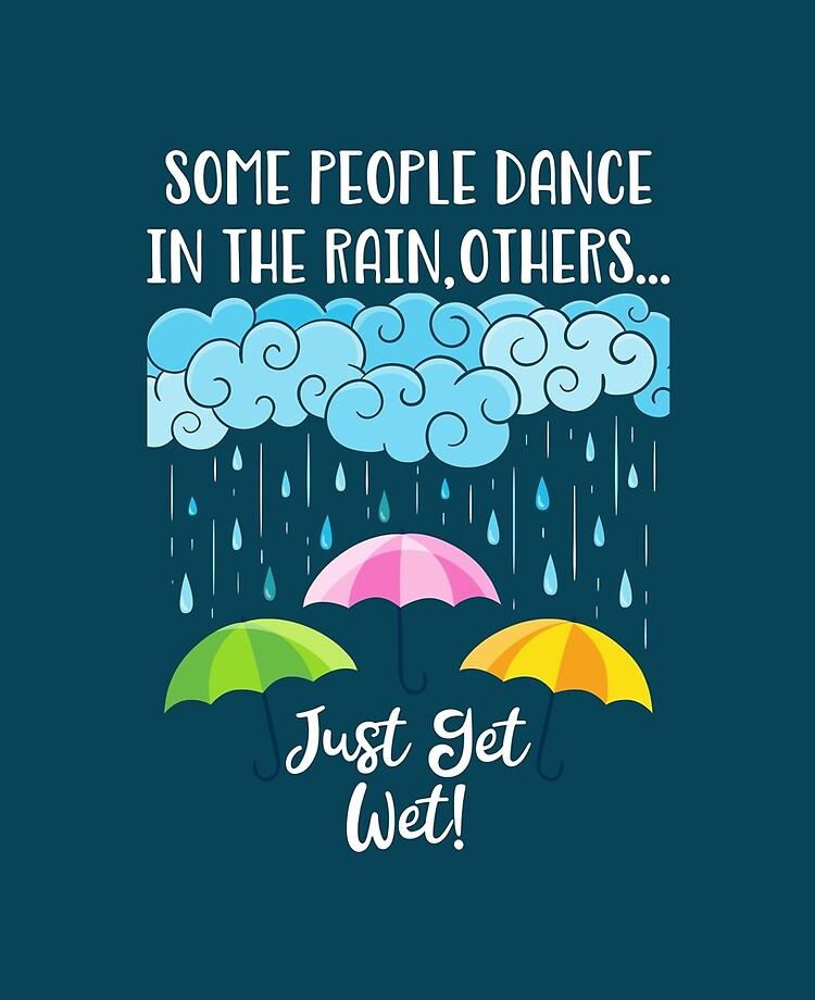 Inspirational Motivational Design Dancing In The Rain Ipad Case Skin