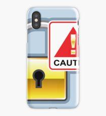 Caution Gold Lock iPhone Case/Skin