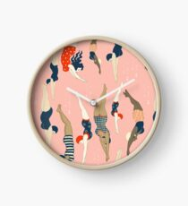 Diving ladies from a vintage era Clock