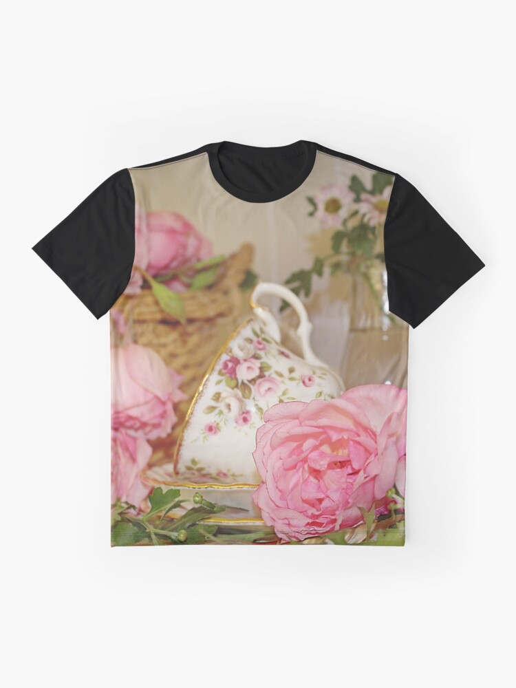 Alternate view of Teacup and Rose Still Life 1 Graphic T-Shirt