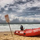 Merewether Beach Surf Boat by monkeyfoto