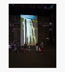 People Watching A Large Screen Photographic Print