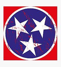 Tennessee Vintage Retro Flag Photographic Print