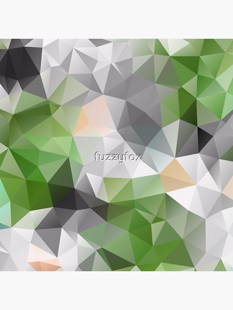 Grey green polygonal pattern by fuzzyfox