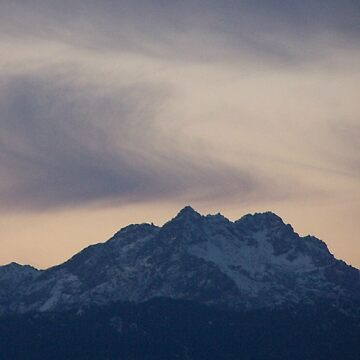 Horse Tails Over The Snow Capped Olympic Mountains by Jonice