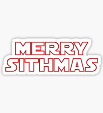 Merry Sithmas (red, outline) Sticker