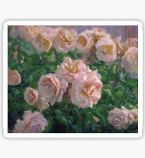 Soft Pink Roses Sticker