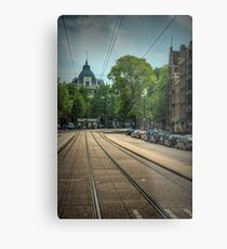 Waiting For The Tram Metal Print