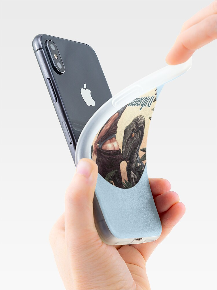 Vista alternativa de Funda y vinilo para iPhone Jurassic World - Clevergirl