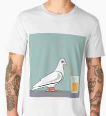 Bird Drinking Men's Premium T-Shirt