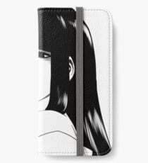 Black Haired and Disappointed iPhone Wallet/Case/Skin