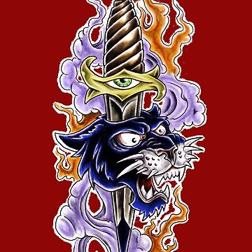 Panther Knife by ScottyTattoo