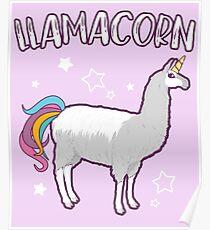 Llamacorn Funny Kids Cute Unicorn Llama Animal Poster