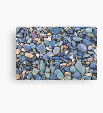 Wet Beach Stones Canvas Print