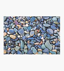 Wet Beach Stones Photographic Print