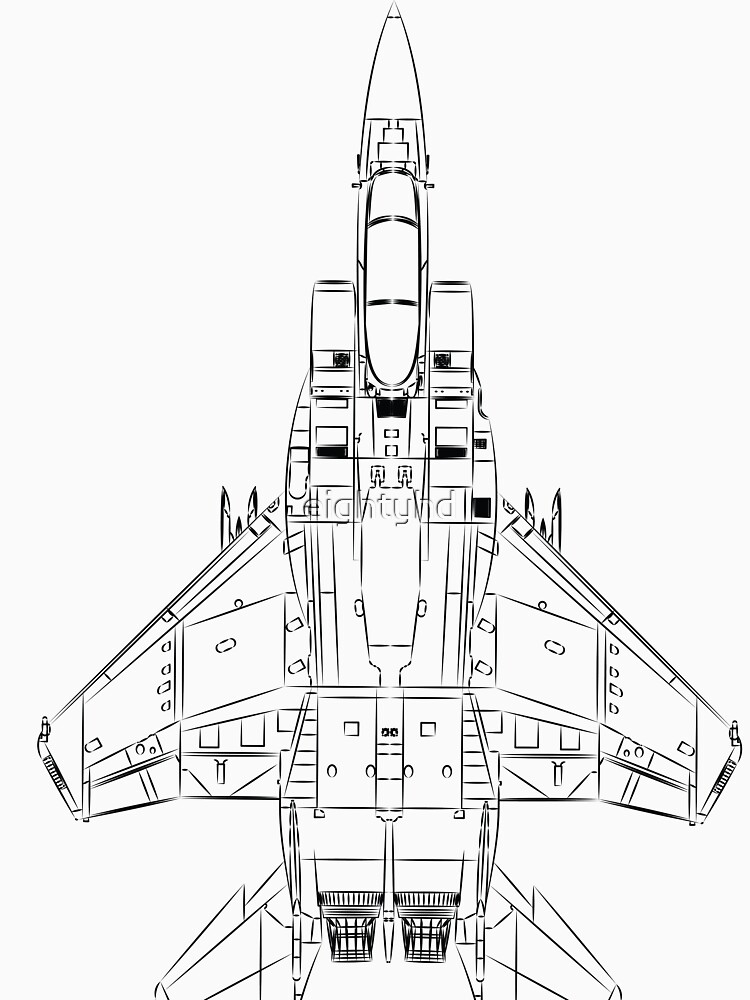 Mcdonnell Douglas F 15 Eagle T Shirt By Eightyhd
