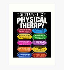 Lámina artística Las leyes de la terapia física Impresionante regalo de terapeuta