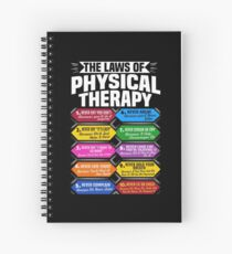 The Laws Of Physical Therapy Awesome Therapist Gift  Spiral Notebook
