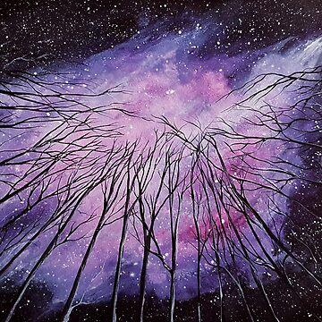 Galaxy, watercolor by Katarinart