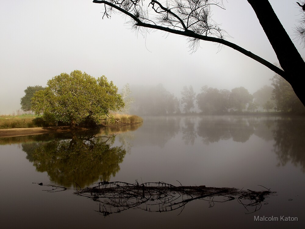 Tranquil Reflections - Bedlam Creek, NSW by Malcolm Katon