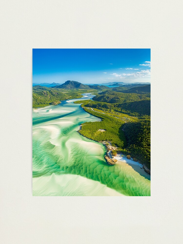 Alternate view of Hill Inlet Whitsundays, Queensland Photographic Print