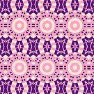 Pink And Purple Circle Crosses  by Joy Watson