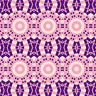 Pink And Purple Circle Crosses  by Joy Watson