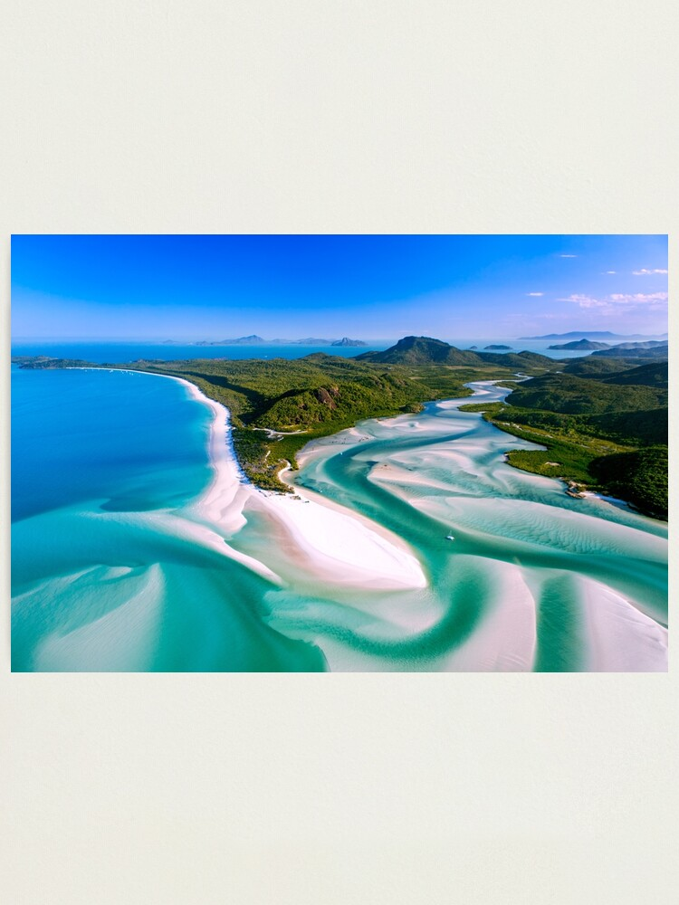 Alternate view of Hill Inlet - Whitsundays Queensland, Australia Photographic Print