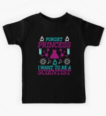 Forget Princess I Want To Be A Scientist | Funny Kids Tee