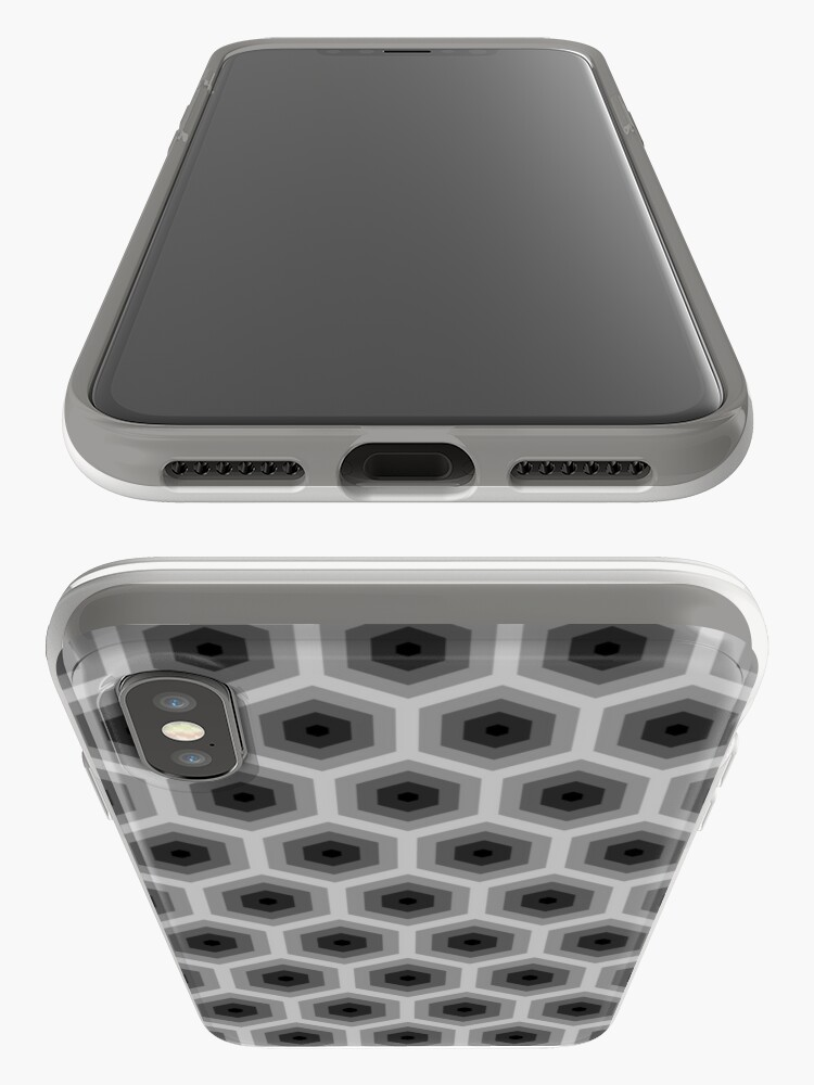 Alternate view of Geometric Pattern: Hexagon: Grey iPhone Case & Cover