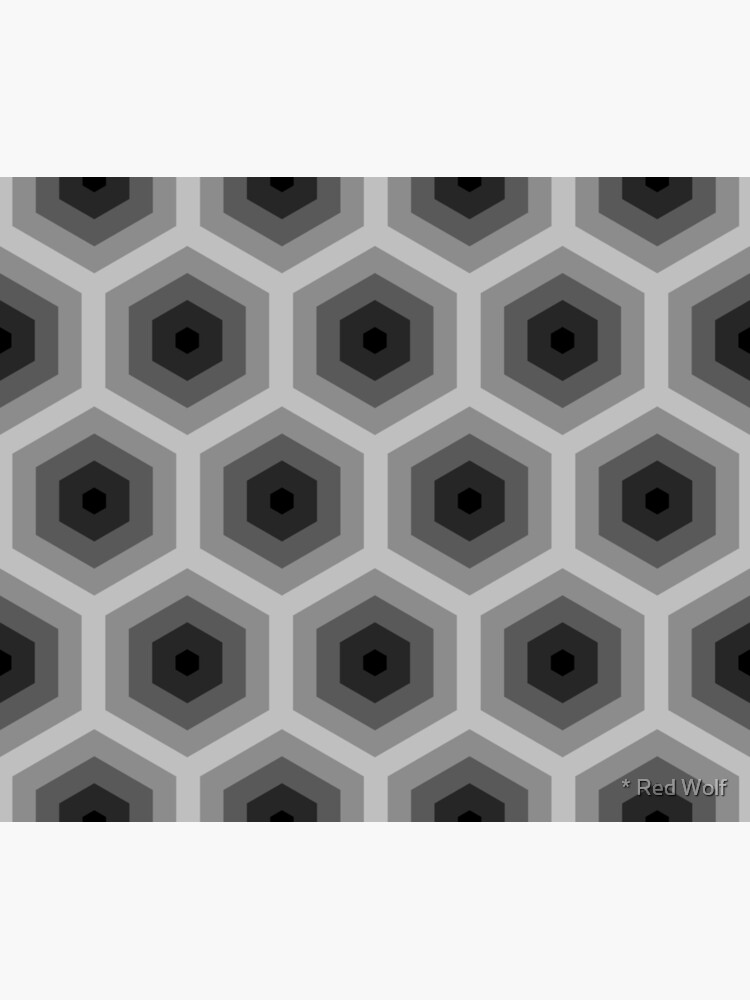Geometric Pattern: Hexagon: Grey by redwolfoz