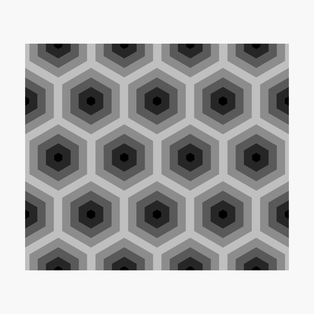 Geometric Pattern: Hexagon: Grey Photographic Print