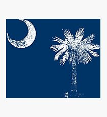 South Carolina Vintage Distressed Flag Photographic Print