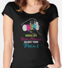 Funny Photography Saying Gifts For Artist Photographer Camera Lover Women's Fitted Scoop T-Shirt