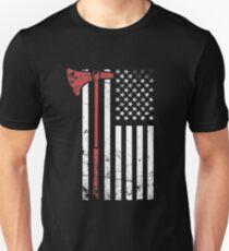 Viking Axe & American Flag T-Shirt