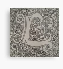 Letter L by Laura Jaen Metal Print