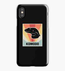 KOMODO Dragon - Vintage 70s Style Poster iPhone Case/Skin