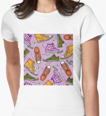 Conversing in Purple Women's Fitted T-Shirt