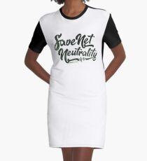 Save Net Neutrality Graphic T-Shirt Dress
