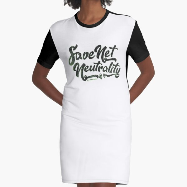 Save Net Neutrality Graphic T-Shirt Dress
