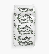 Save Net Neutrality Duvet Cover