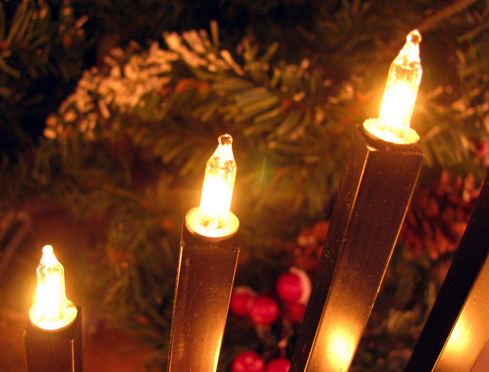 christmas candles by Caroline Anderson