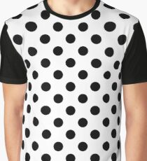 Black and White Classic dots pattern Graphic T-Shirt