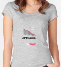 VeloViewer Alp d'Huez 3D Profile - T-Shirt Women's Fitted Scoop T-Shirt