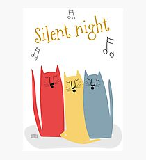 Cats Choir: Silent Night Photographic Print