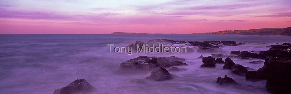 morning at dawn rock by Tony Middleton