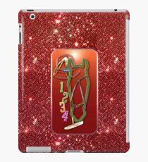 Pferd glitzer rot Horse glimmer red iPad-Hülle & Skin