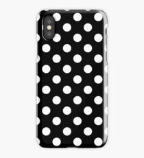 Black and White Classic dots pattern iPhone Case/Skin