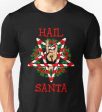 hail santa shirt funny christmas t shirt rock metal gift unisex t shirt - Metal Christmas Sweater